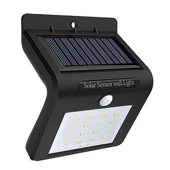 Luz Solar Jardín, 16 led Foco Solar Exterior con Sensor de Movimiento Luces solares Impermeable