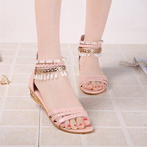 ... Vovotrade® Sommer Elegante Plattform Schuhe Frau Perle Wedges Sandalen  Casual Schuhe Rosa ...