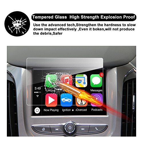 RUIYA 2017 2018 MyLink 7-Inch Chevrolet Silverado 1500 2500HD 3500HD Car Navigation Protective Film,Clear Tempered Glass HD and Protect Your Eyes (Silverado 7-Inch)