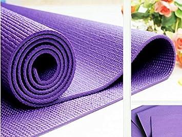 Amazon.com : Online Quality Store Yoga Mat 4Mm Thick (Multi ...
