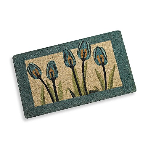 Evergreen Spring Enterprises - Blue Spring Tulips Welcome Door Mat
