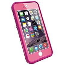 "LifeProof FRE iPhone 6 ONLY Waterproof Case (4.7"" Version) - Retail Packaging -  POWER PINK (LIGHT ROSE/DARK ROSE)"