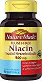 Cheap Nature Made Flush-Free Niacin (B3) 500 mg. Softgels 60 Ct