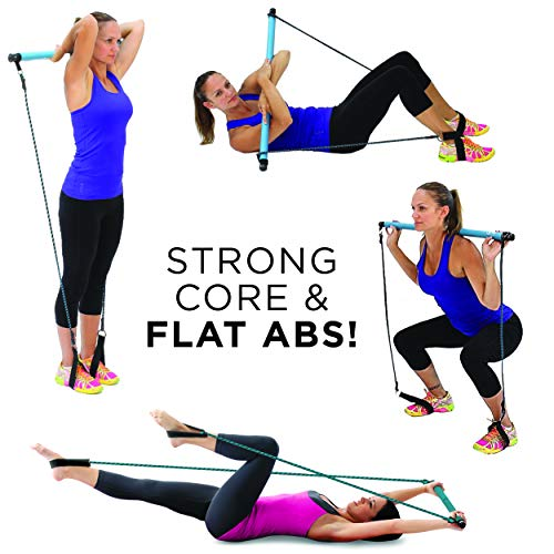 Exercise Bands Bar: Empower Resistance Band And Toning Bar Home Gym, Portable