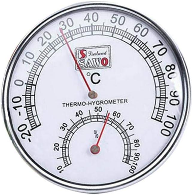 Wintesty Thermometer Hygrometer 2-in-1 Saunathermometer Metallgeh/äuse Exquisite Zifferblatt Temperatur Feuchtemessung Sauna F/ür H/äuser B/üros Werkst/ätten Trustworthy