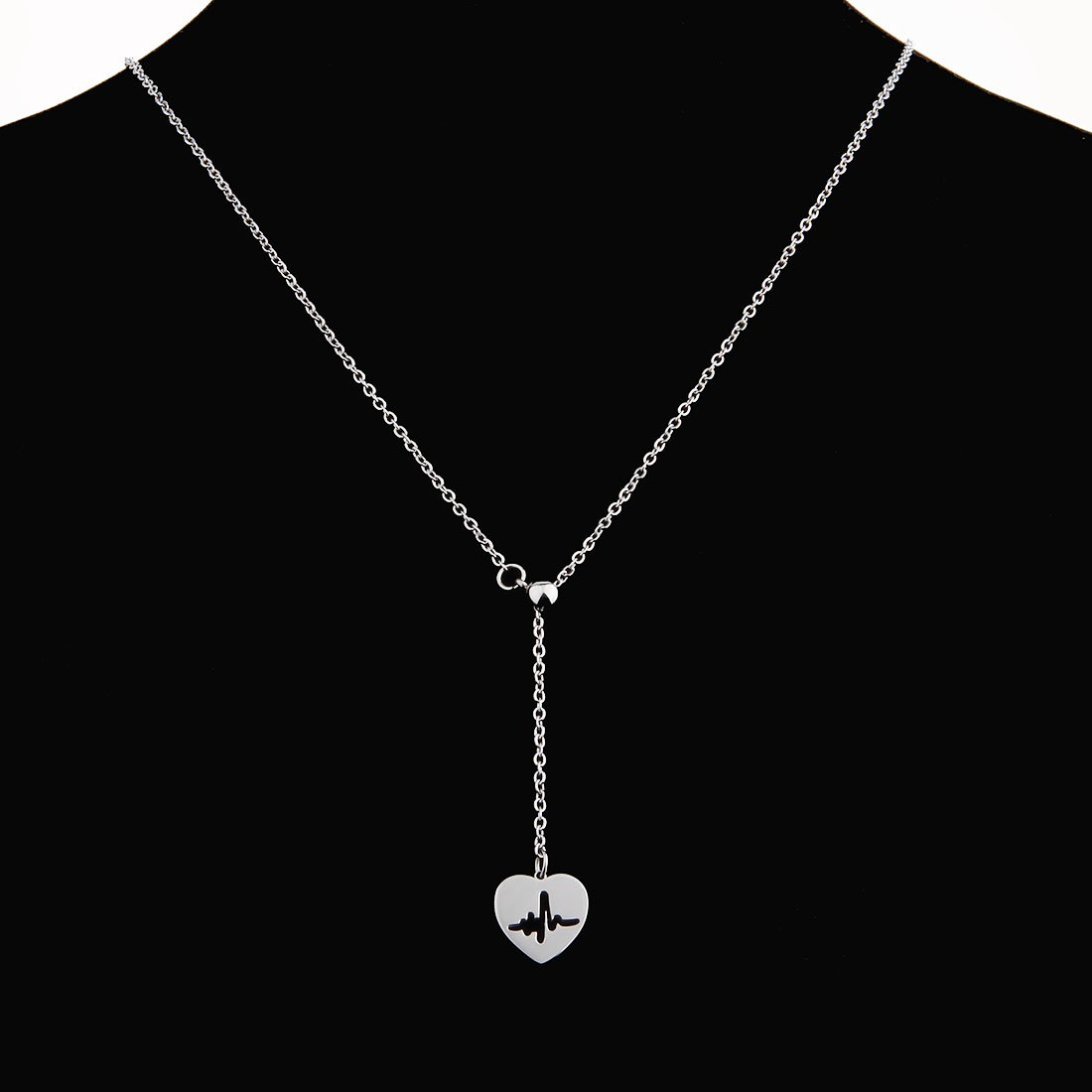 WUSUANED Heartbeat Pendant Stethoscope Nurse Hat Lariat Y Necklace for Nurse Doctor Medical Student