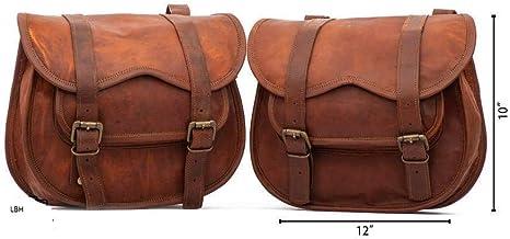 pour Moto V/élo 2 Sachets lbh 2 x Moto C/ôt/é /étui Cuir Marron C/ôt/é Pochette sacoches de Selle sacoches