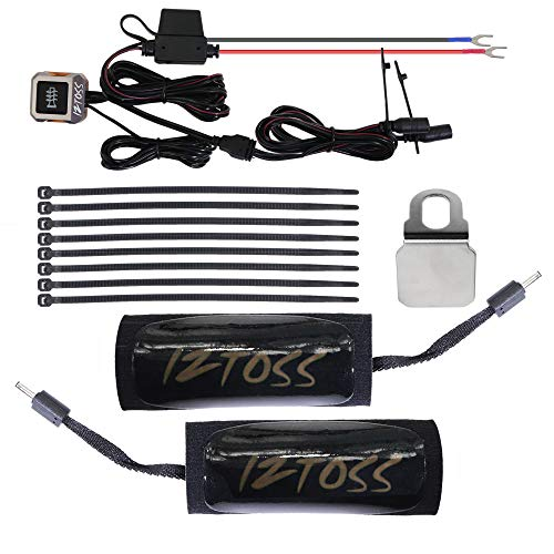 (Motorcycle 12V Heated Grips Warmer pad kits with wires and switch for handlebar 7/8inch-1)