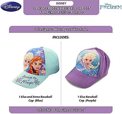 Disney Little Girls Minnie Mouse Cotton Baseball Cap 2 Piece Design Set Age 2-7