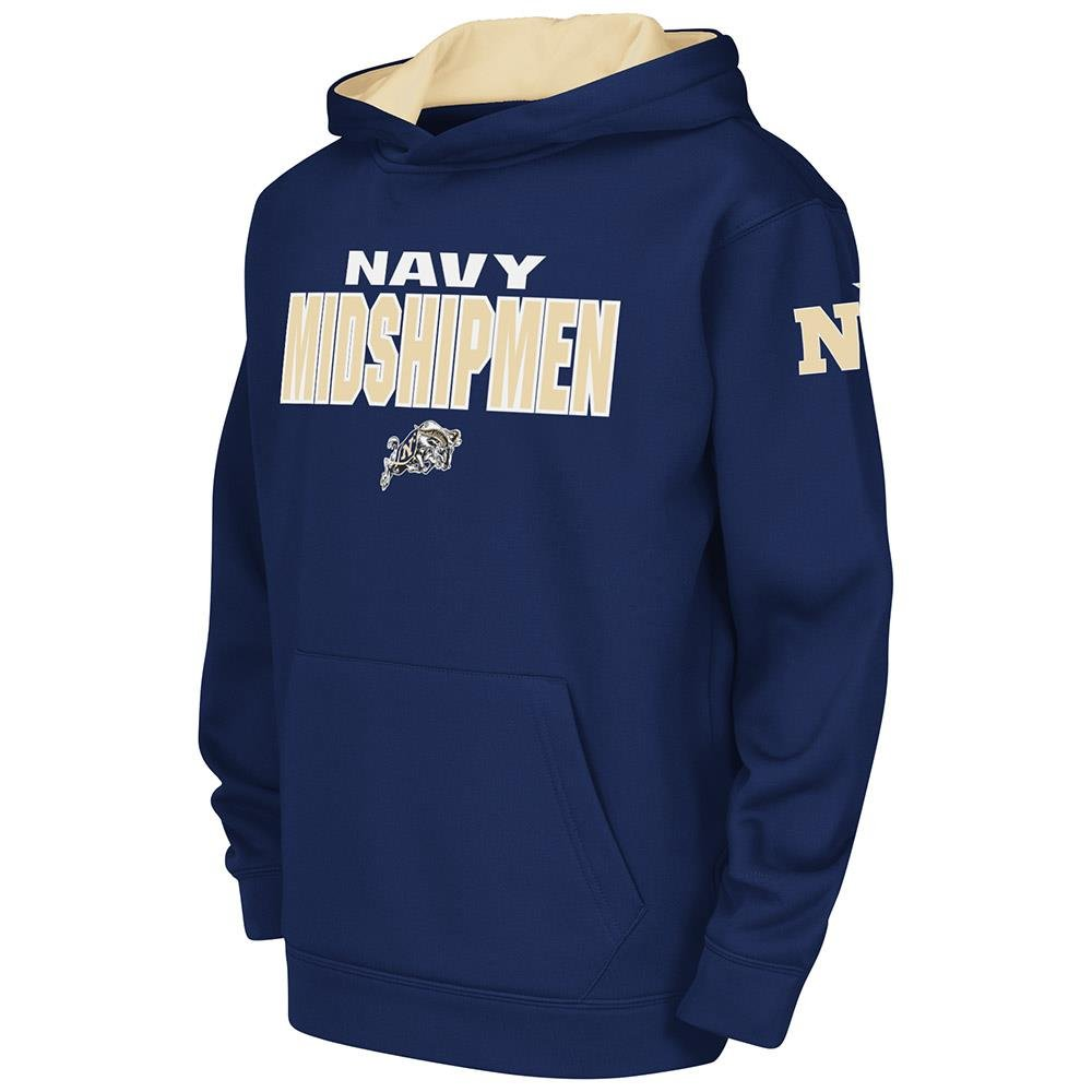 Colosseum Youth NCAA Navy Midshipmen Poly Pull-Over Hoodie