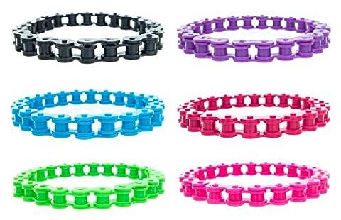 Frogsac Faux Bike Chain Bracelets Set of 6 Great Party Favors