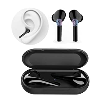Auriculares Inalambricos Bluetooth Cascos Earphones Wireless Cascos sin Cable Deportivo Deporte Bluetooth Auriculares 5.0 con Micrófono CVC 6.0 Cascos ...