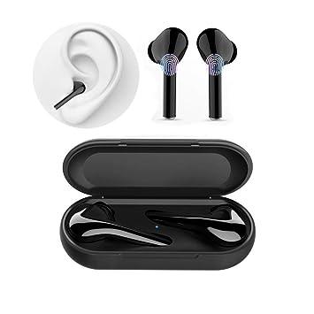 Auriculares Inalambricos Bluetooth Cascos Earphones Wireless Cascos sin Cable Deportivo Deporte Bluetooth Auriculares 5.0 con Micrófono CVC 6.0 Cascos ...