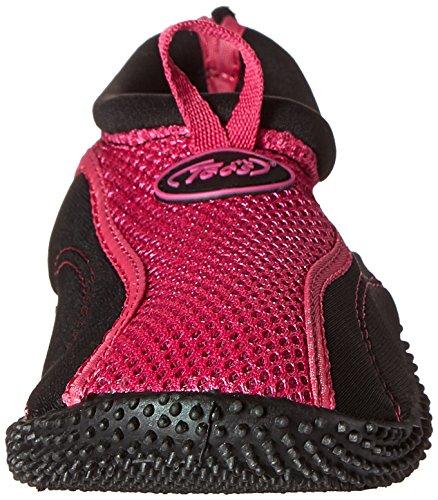 TECS Frauen Aquasock Wasserschuh Pink Schwarz
