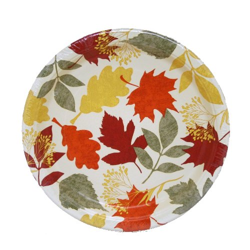 Painted Leaves Fall Dinner Plates, 8ct