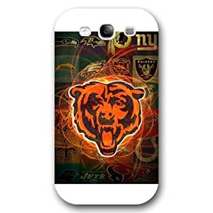 Customized NFL Series For SamSung Galaxy S5 Case Cover NFL Team Chicago Bears Logo For SamSung Galaxy S5 Case Cover Only Fit for For SamSung Galaxy S5 Case Cover (White Frosted Shell)