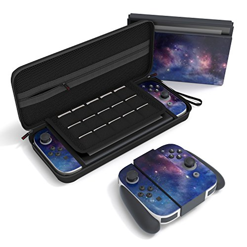 Nintendo Switch Carrying Case by GearSleeve - Durable Protective Accessory for Switch - 20 Cartridges Slots, Great for Travel, Includes a Free Premium Skin - Protect Your Device Now!