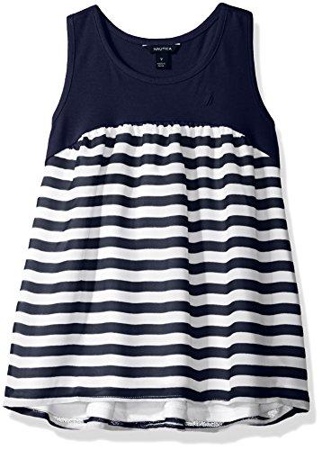 nautica-little-girls-knit-racerback-tank-top-shirt-with-striped-chiffon-body-navy-6