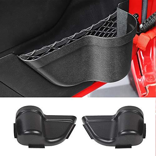 Savadicar Upgraded DoorPocket Front Door Storage Pockets Organizer Box for 2011-2018 Jeep Wrangler JK JKU 2/4-Door, Door Net Pocket Replacement, Interior Accessories, Black (Improved Version)