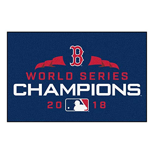 MLB Boston Red Sox Starter Matstarter Mat, Navy, - Rug Starter Sox