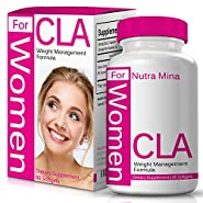 FLASH SALE - CLA for WOMEN, Non-GMO Conjugated Linoleic Acid Derived From Safflower For Weight Loss And Exercise Support, 1000mg, Made in USA - 60 Capsules