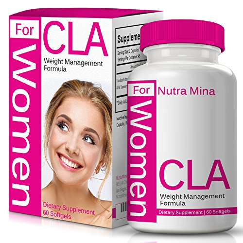 Flash Sale - CLA for Women, Non-GMO Conjugated Linoleic Acid Derived from Safflower for Weight Loss and Exercise Support, 1000mg, Made in USA - 60 Capsules by Nutra Mina