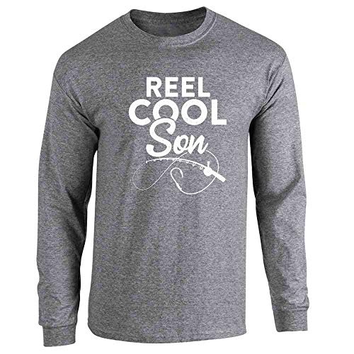 - Reel Cool Son Fishing Rod Fisherman Funny Graphite Heather XL Long Sleeve T-Shirt
