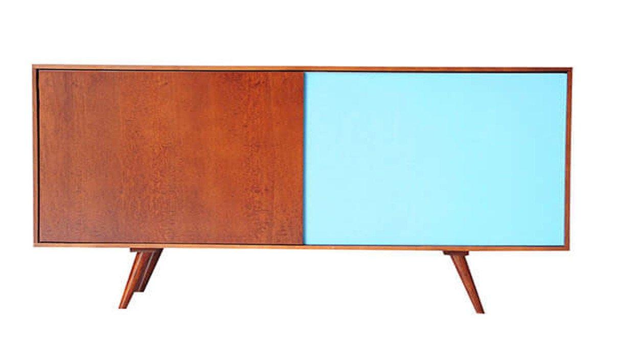 Credenza Con Porte Scorrevoli : Credenza madia cassettiera in legno con porte scorrevoli dal