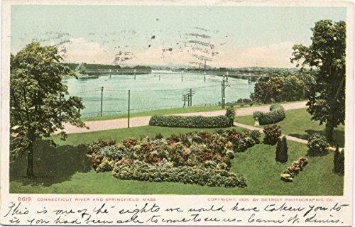 Vintage Postcard Print   Springfield and Connecticut River, Springfield, Mass., 1898   Historical Antique Fine Art ()