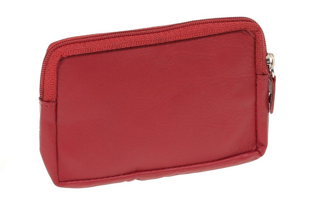 Piel aut/éntica rojo Monedero-llavero para se/ñores y se/ñoras LEAS LEAS Special Edition