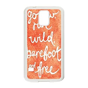 T-TGL(RQ) Samsung Galaxy S5 I9600 Durable Phone Case Barefoot with Hard Shell Protection