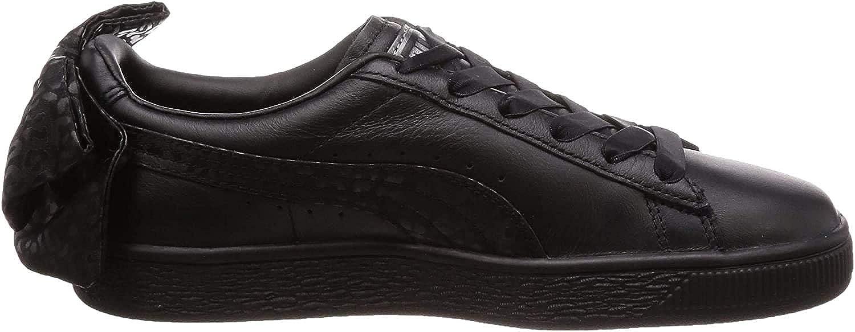 Puma Basket Bow Womens Sneakers Black