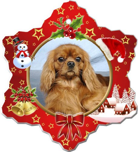 Canine Designs Cavalier King Charles Spaniel Porcelain Holiday Ornament