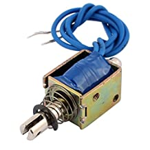uxcell® JF-0520B DC 12V 0.3A 4N Pull Push Type Open Frame Solenoid Electromagnet