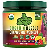 Cheap ORGANIC MUSCLE #1 Rated Organic Pre Workout Powder – All Natural Vegan Keto Preworkout & Organic Energy Supplement for Men & Women – Non-GMO, Paleo, Gluten Free, Plant Based – Lemon Berry – 160g