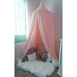 Pompom Play canopy in blush pink cotton / hanging tent/ hanging canopy  sc 1 st  Amazon.com & Amazon.com: Pompom Play canopy in blush pink cotton / hanging tent ...