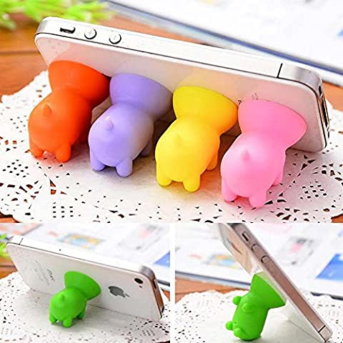 Efanr 5Pcs Universal Cute Mini Pig Shaped Silicone Rubber Cuction Cup Smart Phone Cellphone Stand Holder Mount for iPhone 7 6 6 plus 5C 5S 4S iPad Air Mini Tablet Samsung Galaxy S7 HTC one M8 M7 - Cell Phones Accessories