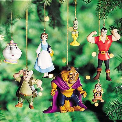 disneys beauty and the beast storybook ornament set