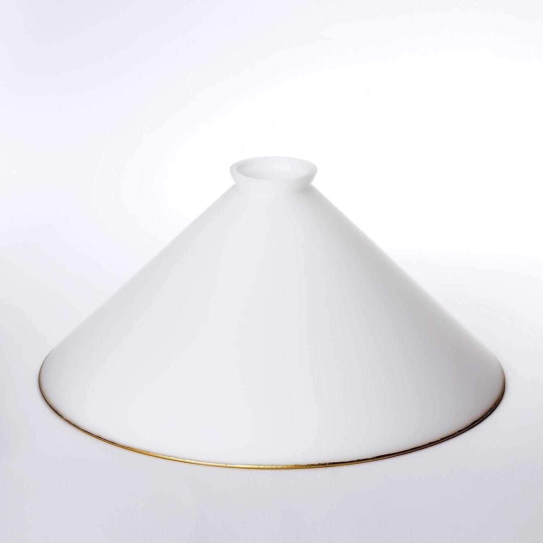 Cristal de repuesto Oro /ópalo mate incluye apertura de cristal 42 mm para E27, /Ø 300mm
