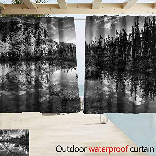 Deer Creek Corner (MaryMunger Simple Curtain Nature Mountain Lake Creek Pines Simple Stylish Waterproof W55x45L Inches)
