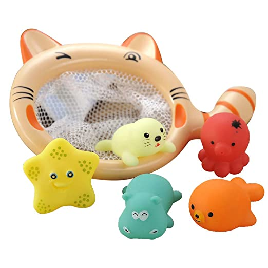7d4ed69b2 Bath Toys Fishing Game,with Floating Fishes Pole Set Educational Toys for  Baby Girls Boys