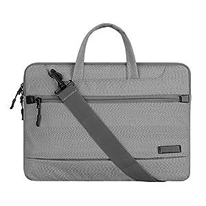 13 inch Laptop Shoulder Bag, Youpeck Laptop Sleeve Case Messenger Bag Waterproof Shockproof Briefcase for Macbook Pro 13/ iPad Pro 12.9/ Lenovo HP ASUS Dell Acer Chromebook 13.3 - Grey
