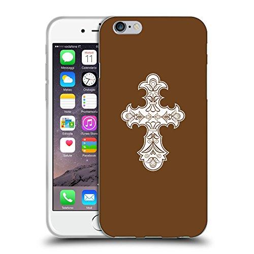 GoGoMobile Coque de Protection TPU Silicone Case pour // Q09260633 Croix chrétienne 36 Sépia // Apple iPhone 7