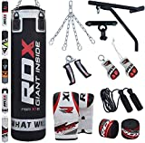 RDX 14pc Heavy Boxing 4ft 5ft Punch Bag Filled MMA Punching Training Gloves Kickboxing Bracket Ceiling Hook