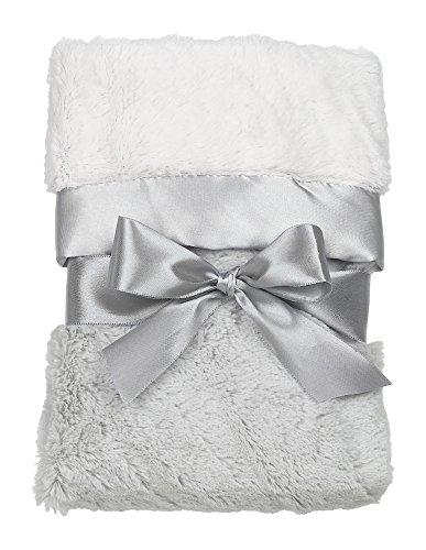 "Bearington Large Silky Soft Crib Blanket (Grey), 36"" x 29"""