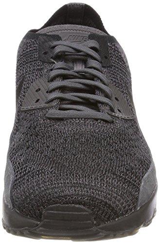 Nike Air Max 90 Ultra 2 Flyknit, Sneaker Uomo Grigio (Thunder Grey/Black Dark Grey 008)