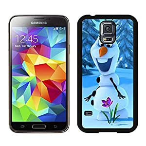 Durable Samsung Galaxy S5 Case Design with Snowman Froze in Black