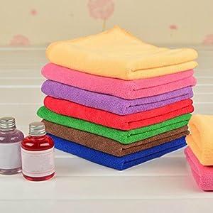 6pcs 25x25cm Microfiber Car Wash Towel Cloth Multi-function Car Polish Cleaning Towel