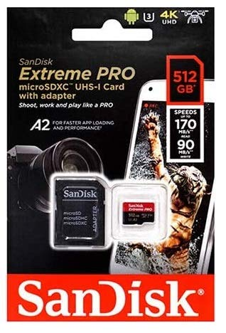 SanDisk 512GB Extreme Pro Class 10 Micro SD Card for Samsung Phone Works with Galaxy Note 20 Ultra 5G, Note20 Ultra, Note 10+, Note10 Plus 5G Bundle with 1 Everything But Stromboli Memory Card Reader