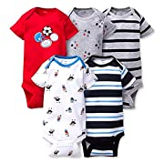 Gerber Onesies 3-6 Months Baby Boys Sports Outfits 5 Pack